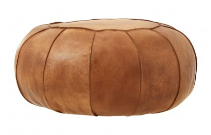 Bullworth pouffe Light Brown Leather