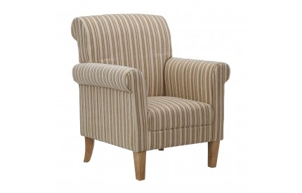 Arlington Feature Chair Cream Stripe