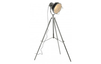 Industrial Revolution Tripod Floor Lamp Matte Black / Chrome