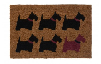 Scottie Dog Doormat PVC Backed Coir