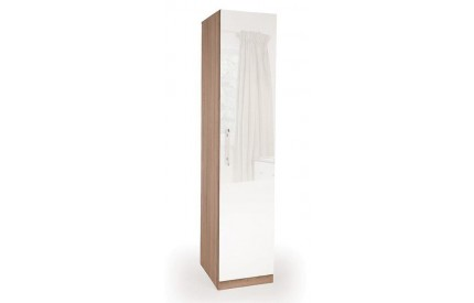 Moore High Gloss 1 Door Wardrobe