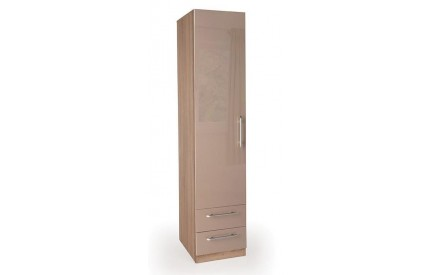 TIno High Gloss Beige 1 Door 2 Drawer Wardrobe