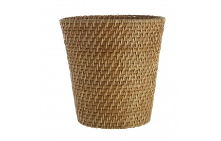 Waste Basket Natural Rattan