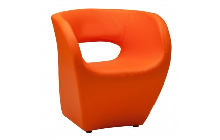 Ardo Chair Orange Leather Effect