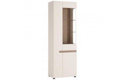 Chelsea Living Tall Glazed Narrow Display White (LH)