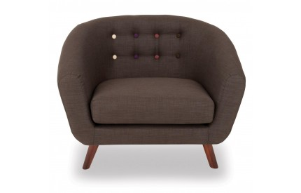 Anja Fabric Armchair Dark Grey