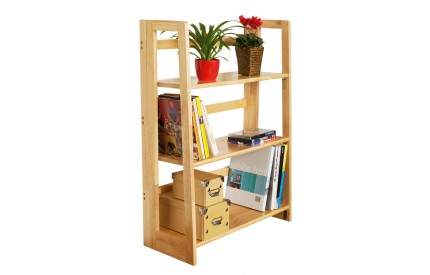 Shelf Unit 3 Tier Tropical Hevea Wood Folding
