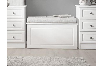 Hampshire Ottoman Blanket Box White