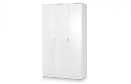 Manhattan 3 Door Wardrobe - High Gloss White