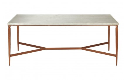 Nirav Coffee Table White Marble Top