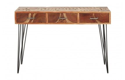 India Console Table Acacia Wood Iron Legs