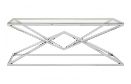 Allure Coffee Table Stainless Steel / Glass Rectangular