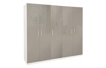 Bailey High Gloss 5 Door Wardrobe