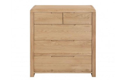 Curve 3+2 Drw Chest of Drawers