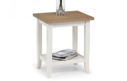 Davenport Solid Oak Ivory Painted Lamp Table