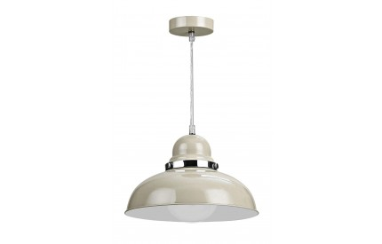 Alps Pendant Light Clay Colour Chrome
