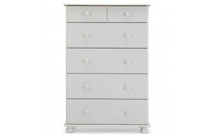 Copenhagen 2 + 4 Deep Drawer Chest in White