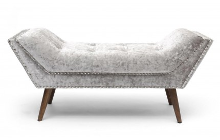 Mulberry Medium Crushed Velvet Silver Chaise