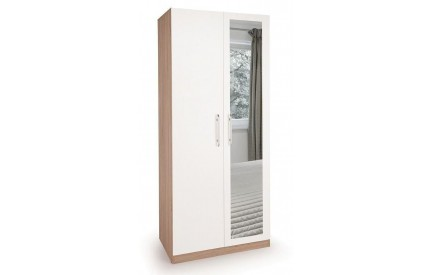 Lye 2 Door Mirror Wardrobe