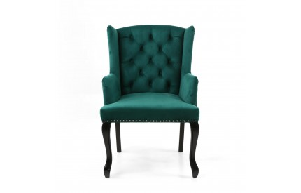 Maison Brushed Velvet Green Accent Chair