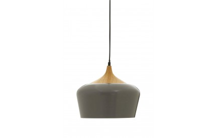 Blayne Pendant Light Metal / Wood Grey