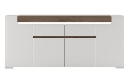Toronto Wide 4 Door 2 Drawer Sideboard Gloss White