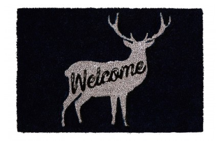 Welcome Deer Doormat PVC Backed Coir