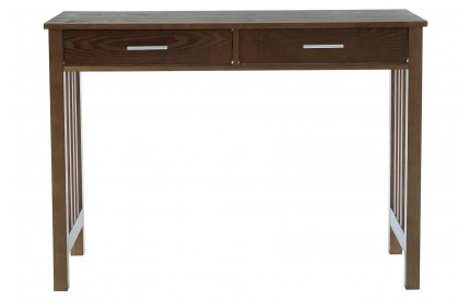 Helda Walnut Console Table 2 Drawers