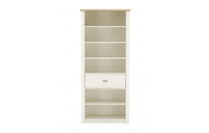 St Ives Bookcase Oak Veneer / White Honeycomb Board / Particle Board