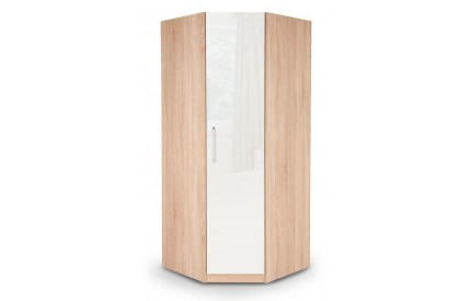 Moore Oak Corner Wardrobe Mirrored