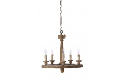 Paxton Chandelier Wood 5 Arm
