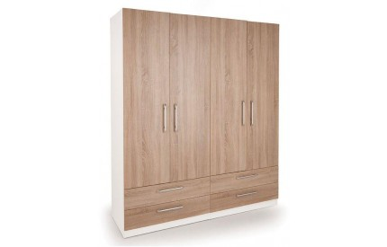 Huston 4 Door 4 Drawer Wardrobe
