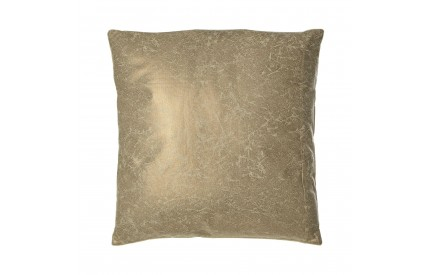 Buckingham Townhouse Cushion Cotton / Polyurethane Gold Crushed Leather Effect