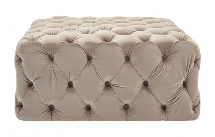Ophelia Footstool Coffee Velvet