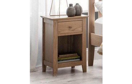 Salerno Shaker Oak 1 Drawer Bedside