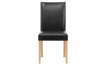 Leather Dining Chair Black