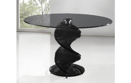 Swirl Black Glass Dining Table