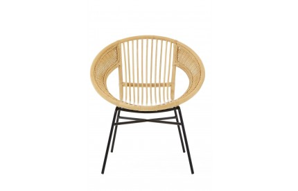 Lagom Chair Rattan Black Iron