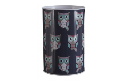 Owl Piggy Bank Money Tin