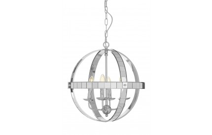 Buckingham Townhouse Pendant Light Chrome/Glass