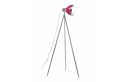 Floor Lamp Tripod Hot Pink Shade/Chrome