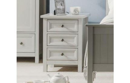 Maine 3 Drawer Bedside - Grey