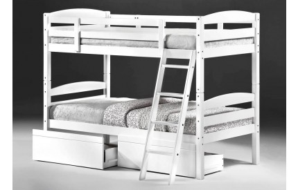 Bierut Solid Wood Bunk Bed White