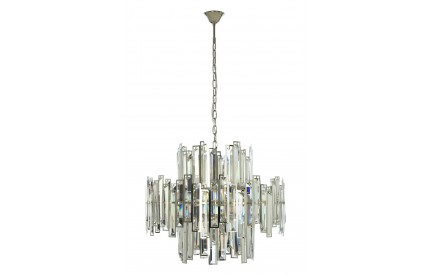Kelona Chandelier Nickel Plated Stainless Steel Clear Crystal / Large