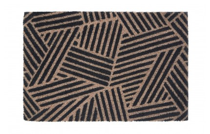 Edited Stripes Doormat Blue  / Natural
