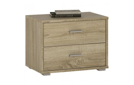 4 You 2 Drawer Low Bedside Sonama Oak
