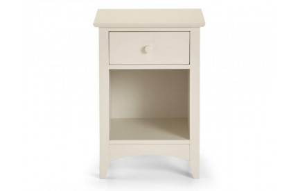 Cameo 1 Drawer Bedside Ivory White Cream