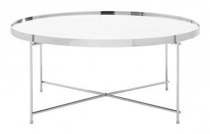 Premium Coffee Table Silver Mirror Chrome