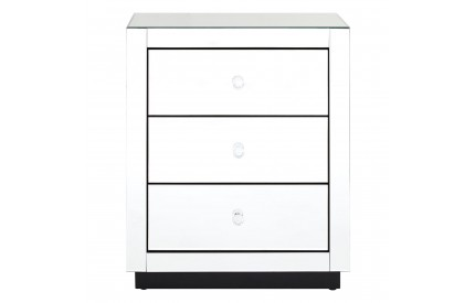 Gwynith 3 Drawer Chest Mirrored
