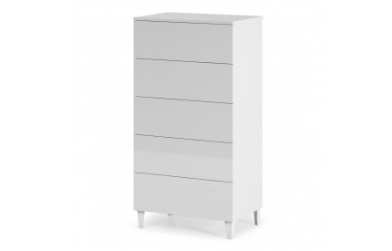 Pacific Chest 5 Drawer High Shine White